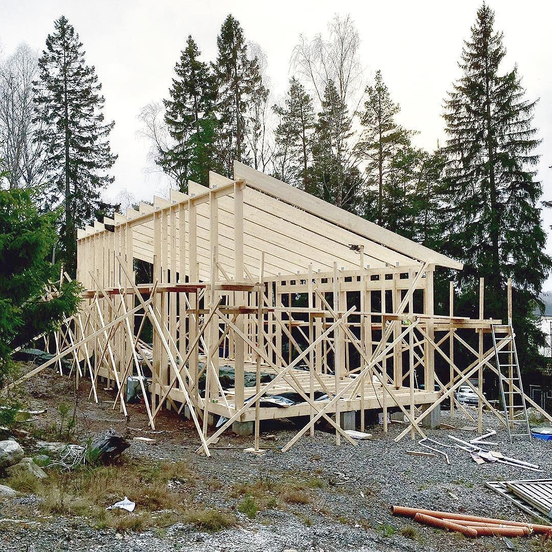 Construction of a private summer house in Kungsdalen, south of Stockholm. @oskarrising