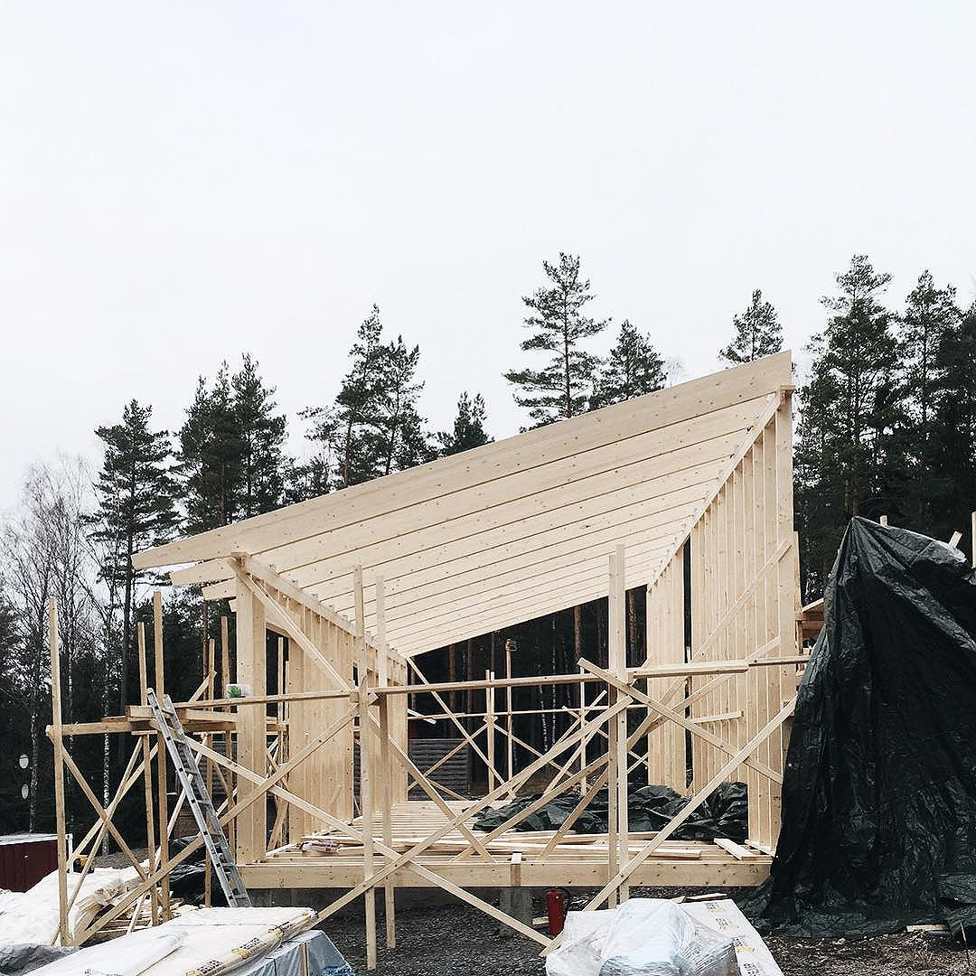 Construction of a private summer house in Kungsdalen, south of Stockholm.